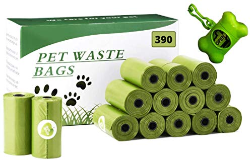 Ordnas&Co Biologisch abbaubare Hundekotbeutel mit Spender, 390 Stück, 26 Rollen, Hygienebeutel für Hunde