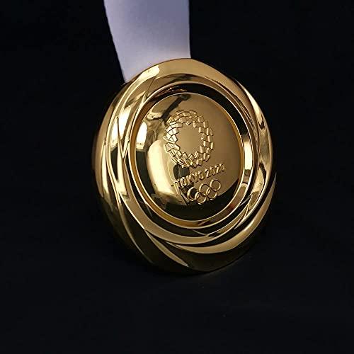 1:1レプリカ日本東京オリンピック金メダル、リボン賞ギフトおもちゃコレクション