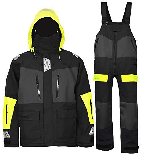 Navis Marine Offshore Segel-Jacke, Trägerhose für Herren und Damen, atmungsaktiv, anthrazit, X-Large (6'2