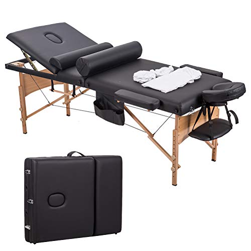 """New 84""""L 3 Fold Massage Table Portable Facial Bed W/Sheet Bolsters Carry Case 3"""