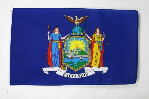 AZ FLAG Flagge New York 90x60cm - Bundesstaat New York Fahne 60 x 90 cm - flaggen Top Qualität