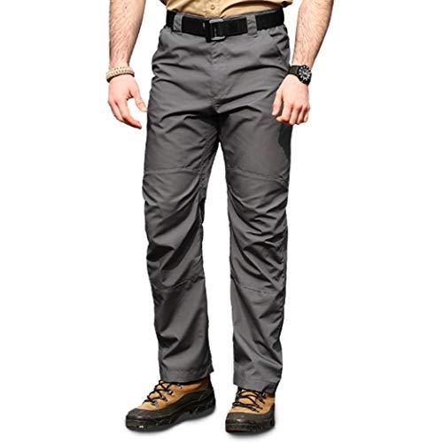 Pantalones De Los Hombres Confort Transpirable Bolsillo Grueso Rodilla Ciclismo Al Aire...
