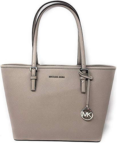 """Saffiano leather with silver tone hardware. Approximate measurement: 12.25""""-16"""" W x 10"""" H x 4.5"""" D Interior: 1 zippered pocket and 2 slip pockets. Exterior: Back slip pocket 9"""" double shoulder strap drop."""