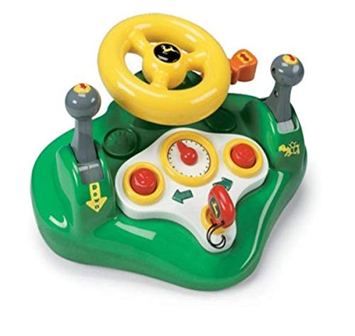 Product Image of the John Deere Tomy Busy Driver Car Simulator & Tractor Toy with Steering Wheel &...