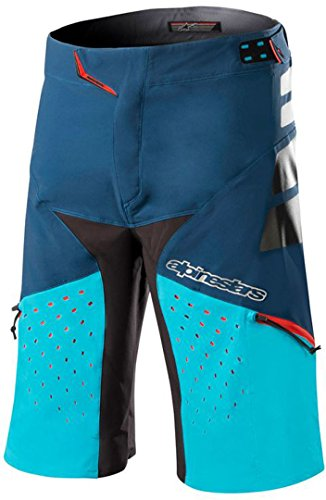 Alpinestars Drop Pro Pantalones Cortos, Poseidon Blue Atoll, Talla 34