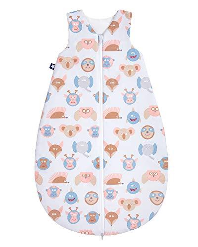 Julius Zöllner Baby Ganzjahresschlafsack aus 100% Baumwolle, Größe 70, 6-12 Monate, Standard 100 by OEKO-TEX, made in Germany, Monkey Crew