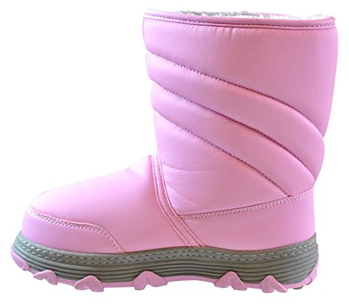 Khombu Kid's Neptune Pink Snow Boot | Fur Lined Waterproof Boot for Kids Fabric-and-Synthetic Size - 6