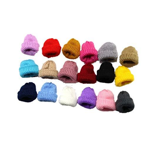 Fully 20 X Puppenmützen Strickmütze Gestrickte Mütze Hüte für Puppen (Kopfumfang: 12cm/4.72