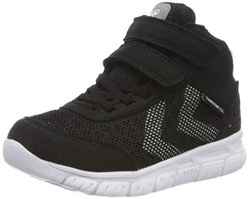 hummel Unisex-Kinder Crosslite MID TEX JR Sneaker, Schwarz (Black 2001), 32 EU