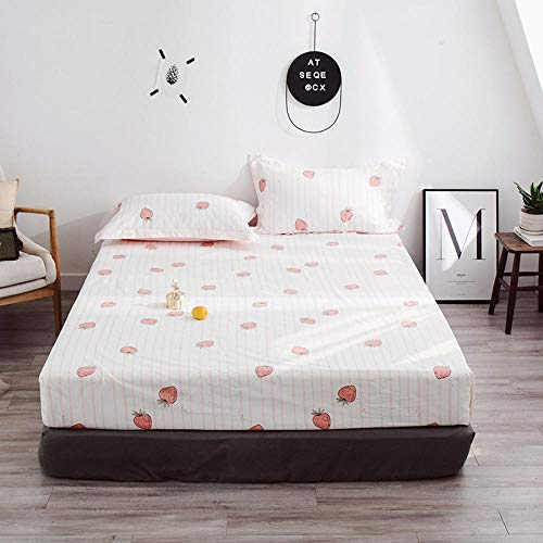 HPPSLT Drap-housse en coton avec ourlet élastique résistant pour s'adapter parfaitement à votre matelas. Drap de lit imprimé en coton 120 x 200 cm