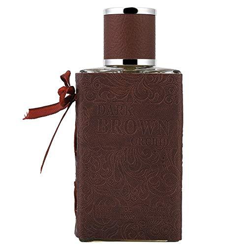 Parfum para hombre, fragancia francesa para hombres, fresca y elegante, exquisito embalaje de cuero, perfume de colonia de larga duración, regalo de cumpleaños para novio, padre 80 ml(Brown)