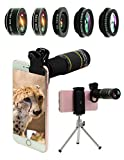Bostionye Phone Camera Lens Kit 10 in 1 for iPhone Samsung Pixel Android, 22X Telephoto Lens, 0.63Wide Angle Lens&15X Macro Lens, 198° Fisheye Lens,Kaleidoscopes, CPL+Tripod,for Most Smartphone