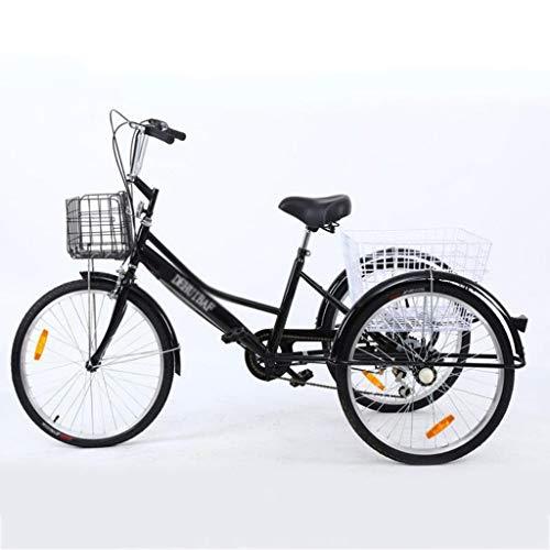 M-YN Triciclo Adulto Triciclo Adulto 24 Pulgadas 7 Velocidad Three Wheel Trike CRUSER TRIBLES Adultos TRIKES Paso Paso A Paso DE Plazo DE TAMAÑO Grande para Mujeres Hombres Hombres Ejercicio