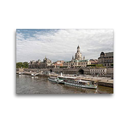 CALVENDO Premium Textil-Leinwand 45 x 30 cm Quer-Format Die Brühlsche Terasse, Leinwanddruck von wkbilder