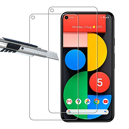 THILIVE (2 Stück) Google Pixel 5 Panzerglas, displayschutzfolie panzerfolie, folie gehärtetem Glas,9H Festigkeit,Kratzfest,Glasfolie Glas Schutzfolie-klare