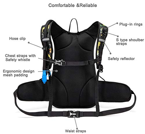 BPA Free 2L Water Reservoir Pack For Hiking Camping Cycling Isermeo Hydration Bladder