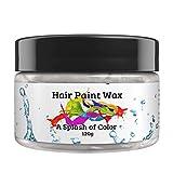 Hair Paint Wax A Splash Of Color - White (120 Gram) | Environmentally Friendly Temporary Unisex...