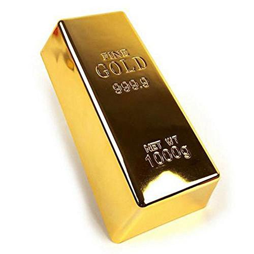 1kg Kreativer Goldbarren Barrenstopp Starker Ziegelstein Briefbeschwerer