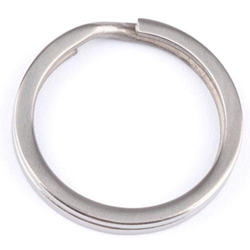 SIFUKU (Ti) 軽量 外徑18/25/28/32mm 1個入り TA2純チタン チタン キー リング キー ホルダー カラビナ スプリット 平 リング カラー シルバー 銀 (外径(10mm))
