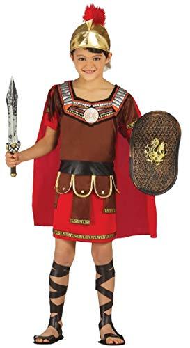 garçons Déguisement Centurion Romain Grècque Soldat armée Warrior Gladiateur Historic journée du Livre Déguisements Costume - Rouge, Rouge, 10-12 Years