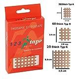 La Rejilla Original Cross Patches, Tape de 123tape, 40 acupuntura Pro Box en tres tamaños