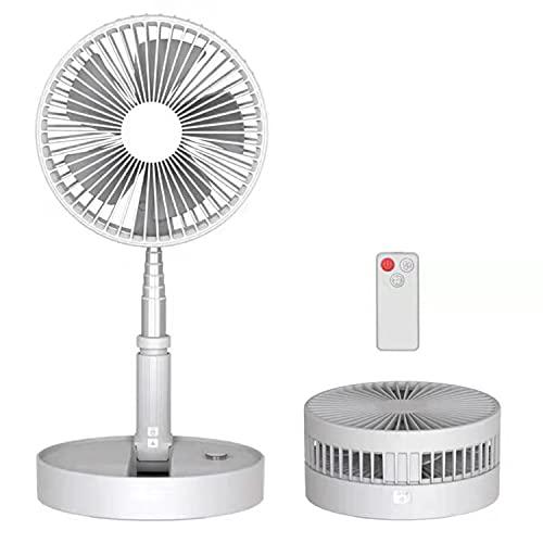 Ventilador de pie y mesa,3niveles de ventilación,incluye un control remoto.Fácil de limpieza,altura regulable aprox.1m.Tiempo de uso de hasta 18hs,incluyendo una capacidad de batería de 7200mAh.