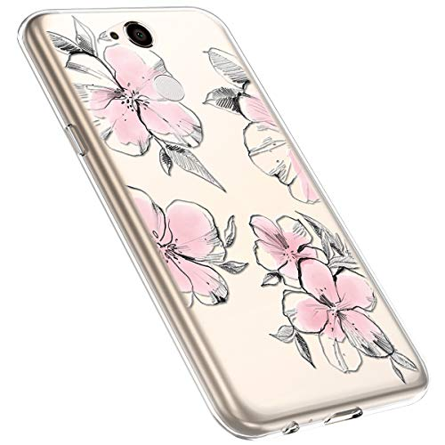 MoreChioce kompatibel mit Sony Xperia XA2 Hülle,Xperia XA2 Handyhülle Blume,Ultra Dünn Transparent Silikon Schutzhülle Clear Crystal Rückschale Tasche Defender Bumper,Blumenzweig #28