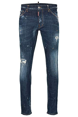 DSQUARED2 Herren Jeans | Cool Guy Jean 48 50 52 54 Navy Distressed Dsquared 2
