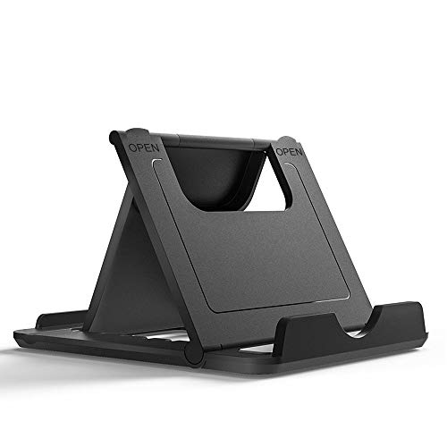 "Smartphone Stand Holder | Cell Phone and Tablet Foldable Desktop Holder, Universal Multi Angle, Made for iPhone X, 8, 8 Plus, 7, 7 Plus, Galaxy S9/S9 Plus, iPad 10.5, Tablets (6-11"") Cell Phone Stand"