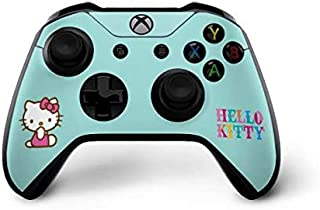 Skinit Decal Gaming Skin for Xbox One X Controller - Officially Licensed Sanrio Hello Kitty Blue Background Design