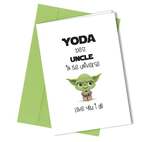 # 225 Uncle Biglietto D' Auguri Yoda Comedy Rude Funny Humour Birthday Card Cheeky (A4 Piegato Ad A5) Di Alta Qualità Biglietto D' Auguri Close To The Bone