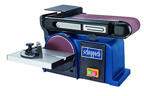 SCHEPPACH SET BTS 800 | Inkl. Ersatzschleifpapier / -bänder 12-teilig | Bandschleifer | Tellerschleifer | 370 Watt | 100 mm Schleifband | 150 mm Schleifteller