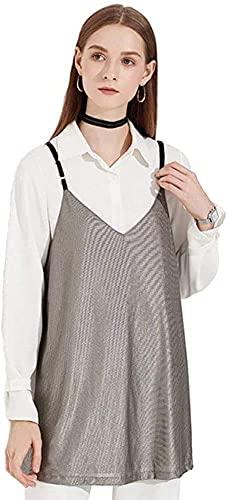 CEXTT Traje de radiación Camisetas sin mangas de maternidad Ropa anti-radiación de las mujeres para trabajar Embarazo Desgaste interior Sling Traje de embarazo, antiestático, ajustable (Color: S1, Tam