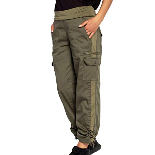 SCOTTeVEST Women's Margaux Cargaux Travel Cargo Pants | 11 Concealed Pockets Olive