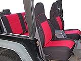 GEARFLAG Neoprene Seat Cover Custom fits Wrangler TJ 1997-02 Full Set (Front + Rear Seats)...