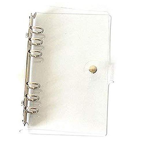 Ogquaton Notizbuch-Einband mit 6 Löchern, transparent, weich, PVC, rund, Ringbuchschutz, A7, sehr praktisch und beliebt