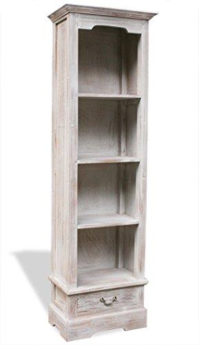 LioLiving®, Bücherregal Inna mit 1 Schublade und 4 Fächern im Vintage-Look (#400121)