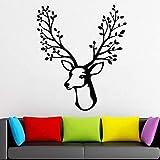 mlpnko Staghorn Tree Vinyl Wall Stickers Decoración del hogar Sala de Estar Papel Tapiz de Pared Retro Mural86X69cm