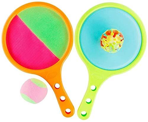 RENFEIYUAN 1 Set Toss and Catch Ball Set Tennisschläger und Ball Stick Paddle Spiel für Kinder Elternkind Badminton Sets