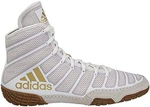 adidas Men's Varner Wrestling Shoe, White/Matte Gold/Brown, 11