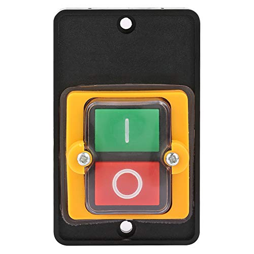 Hyuduo Push Button Switch Machine Switch Button AC 220V/ 380V 10A Embedded Waterproof and Dust-proof ON/OFF Button