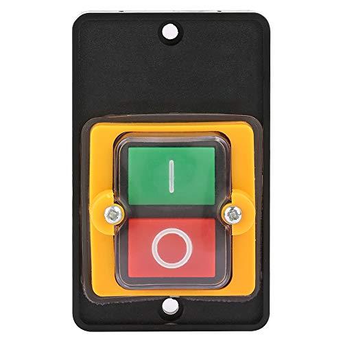 Interruptor de botón pulsador, AC220V / 380V 10A Interruptor de botón de encendido/apagado a prueba de agua sin caja para equipo mecánico