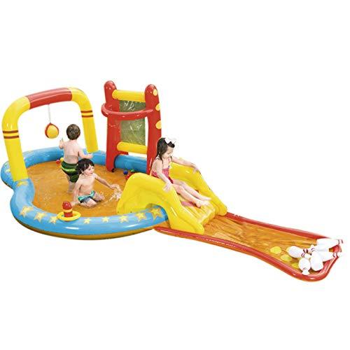 monshop Planschbecken Mit Rutsche Für Kinder, Hüpfburg Kinder Indoor Aufblasbares Wasserspielzeug, Kinderpool Für Kids Water Fun Pool Hinterhof