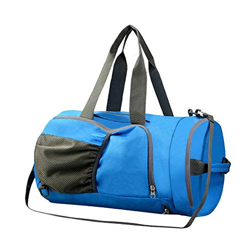DAMAI STORE Outdoor Backpack Swimming Bag Dry And Wet Separation Men And Women Beach Waterproof Shoulder Bag Swimsuit Storage Bag Sports Equipment Fitness Bag Backpack (Color : Blue)