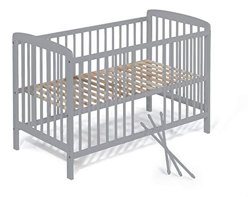 KOKO Babybett Beistellbett Babybett Gitterbett JULIA 120x60 grau
