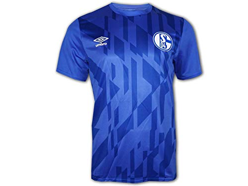 UMBRO FC Schalke 04 Warm Up Trainingsshirt Herren blau/weiß, L