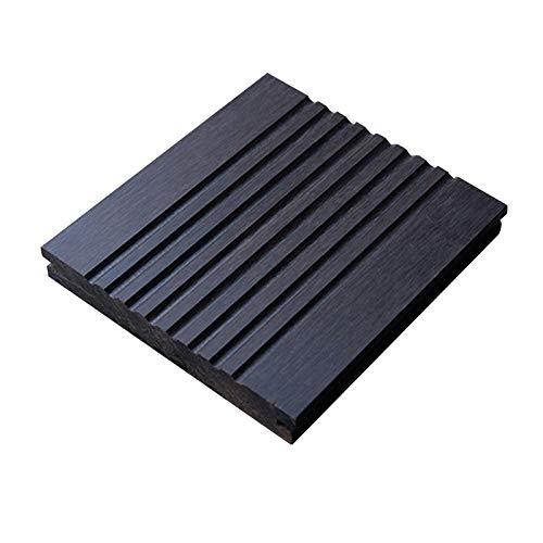 Maniny Hochleistungs-Bambus- und Holzböden im Freien - 1 m² Wasserdichter und korrosionsbeständiger tiefer Carbonboden - 18 * 140 * 1860 mm