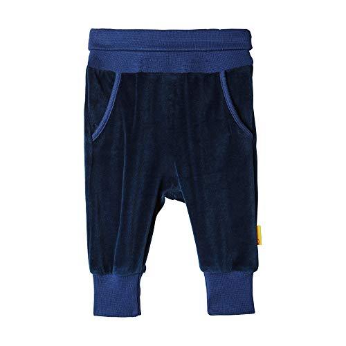 Steiff Jogginghose mit Sternen und Taschen , Blau (BLACK IRIS 3032) (Herstellergröße:74)