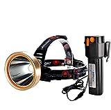 HMAN Headlamp Flashlight,Super Bright Hunting Led 6000LM Rechargeable18000mAh Explore Headlamps,IPX4 Waterproof Headlight,Hardhat Work Spotlight Head Lamp,Camping,Outdoors,Searchlight,Adventure