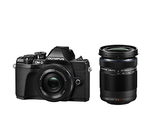 Olympus OM-D E-M10 Mark III Kit, Micro Four Thirds Systemkamera (16 Megapixel, Bildstabilisator, elektronischer Sucher, 4K-Video) + M.Zuiko 14-42mm EZ...